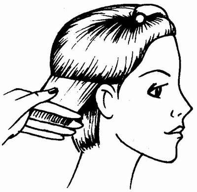 стрижка волос боковых зон