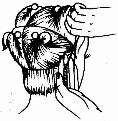 снятия волос на пальцах при стрижке затылочной зоны