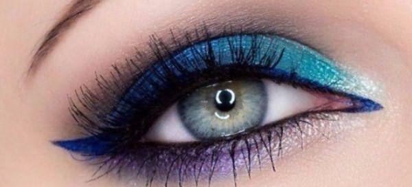 красивый макияж для голубых глаз 7
