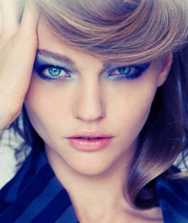 Макияж смоки айс для голубых глаз 1