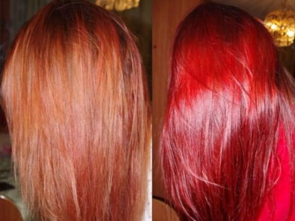 Результаты применения шампуня: до и после
