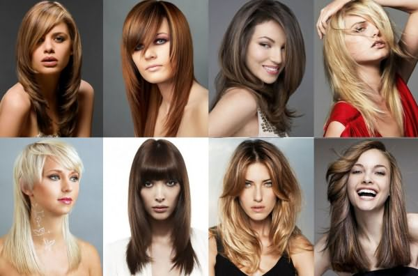 Женские стрижки на волосы средней длины