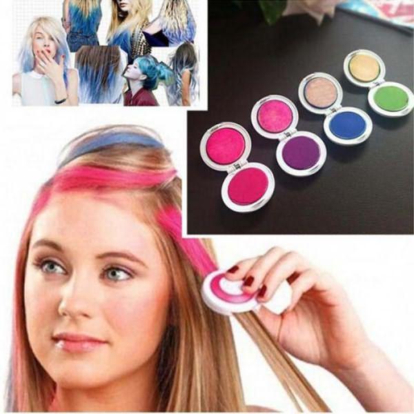 как красить волосы мелком
