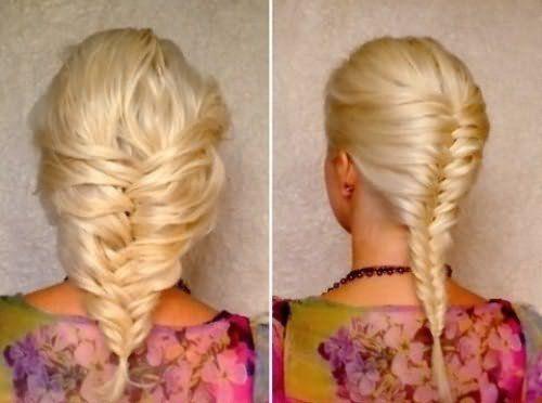 Пример колоска на относительно коротких волосах