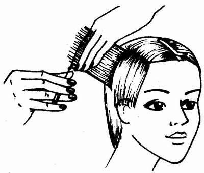 стрижка ведется от одного виска к другому - универсальная короткая женская стрижка