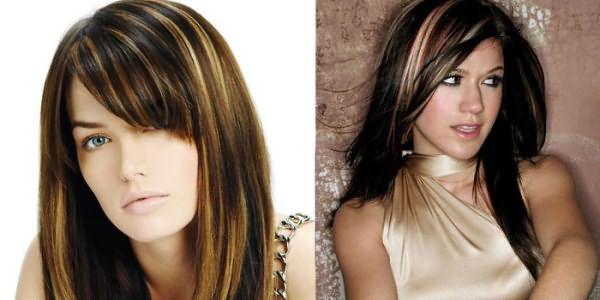 Фото девушек со светлым мелированием на черных волосах