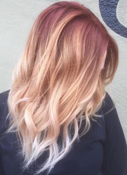 покраска омбре на темные волосы фото
