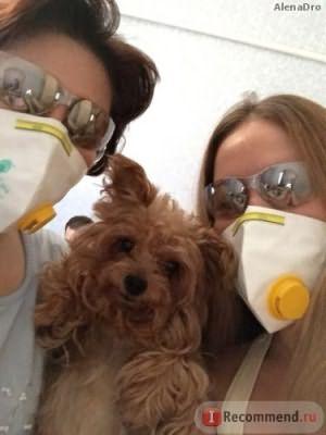 Подготовка к процессу. Пришлось одеть маску и очки, во избежании