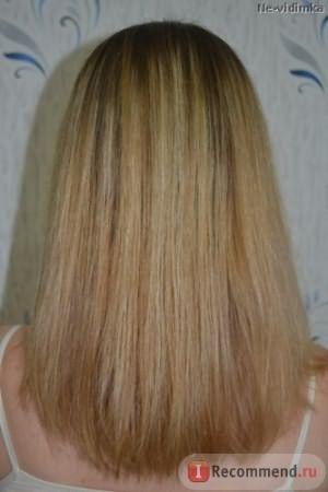 Волосы после применения гиалуроной кислоты в качестве несмываемого средства