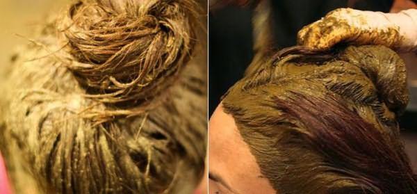 Покрытие хной для волос всей шевелюры