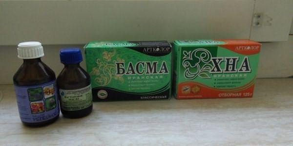 Басма и хна для приготовления краски для седых волос