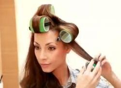 как накрутить волосы на бигуди липучки 4