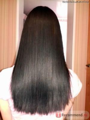 Мои волосы сразу после выпрямления