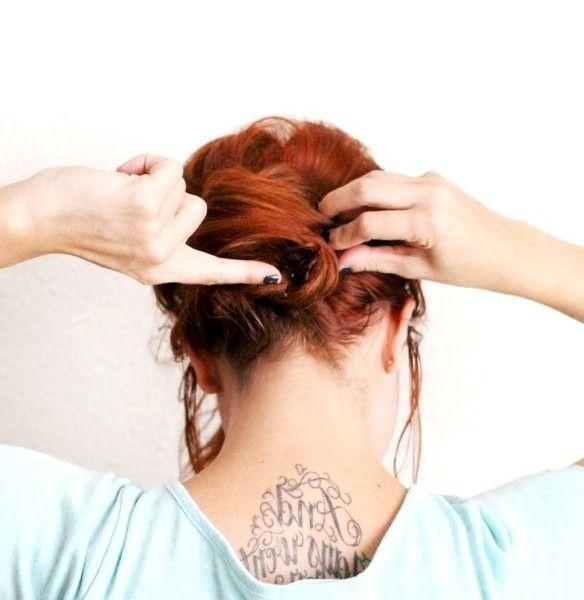 Как сделать небрежную ракушку на длинные волосы: шаг 5