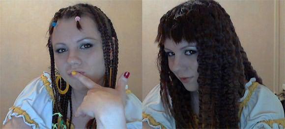 Коса - элементарный приём для создания волнистого эффекта