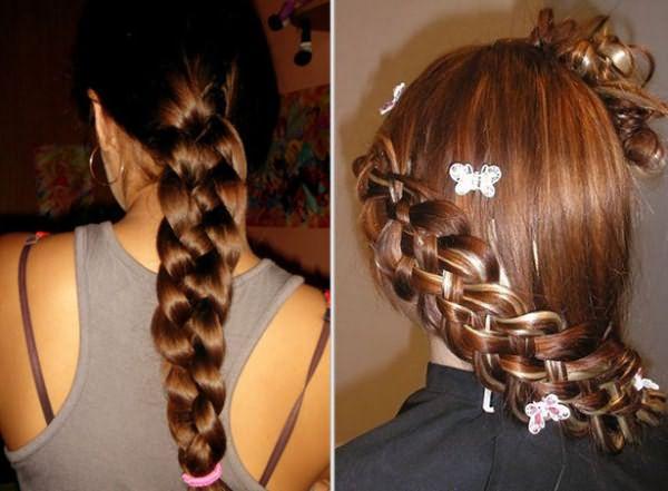 Варианты плетения волос