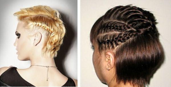 Стильные прически с плетением на короткие волосы