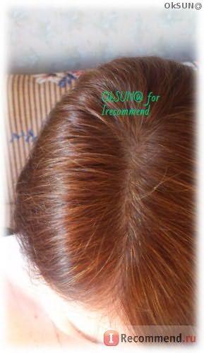 Цвет волос спустя 10 дней после окрашивания. Естественное освещение.