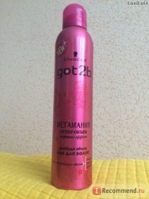 Лак для волос Schwarzkopf Got2b мегамания коллаген супер-объем фото
