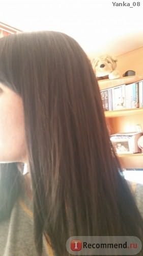 Волосы сразу после сушки феном