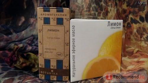 Эфирное масло BOTANIKA Лимон фото