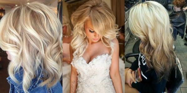 Варианты окрашивания волос по технологии омбре для блондинок