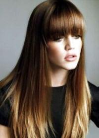 омбре на длинные прямые волосы 7