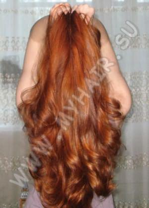 Наглядный пример изменения цвета волос хной