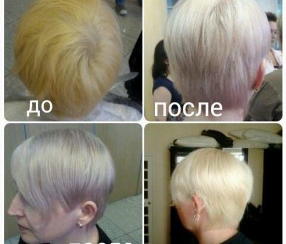 Результаты окрашивания волос холодными оттенками: до и после