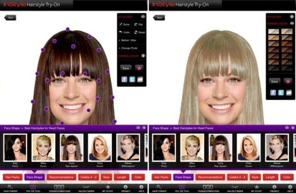 InStyle HairStyle – еще одно приложение, которое вот уже 4 года активно используется почитателями карманных стилистов