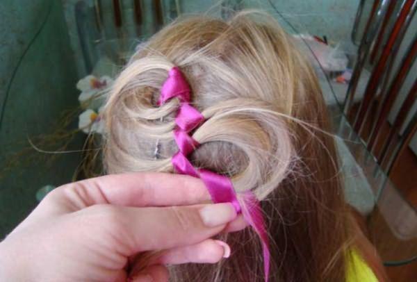 Процесс воссоздания извилистой косы: шаг 6