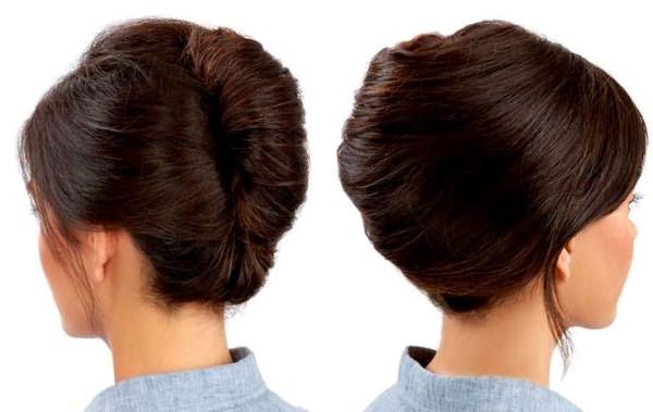 Объемная ракушка на длинные волосы