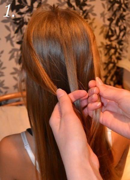 Создание праздничной косы: шаг 1