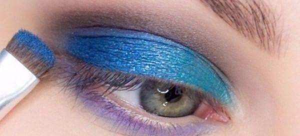 красивый макияж для голубых глаз 4