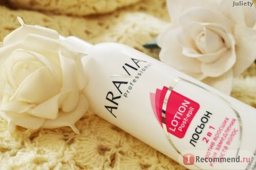 Лосьон для тела ARAVIA Professional 2 в 1 с фруктовыми кислотами против вросших волос и для замедления роста фото