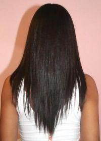 стрижка лисий хвост на длинные волосы 6