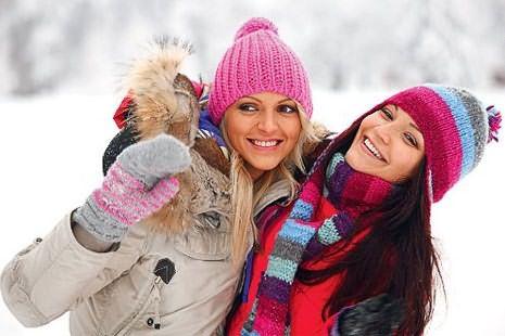 Девушки зимой