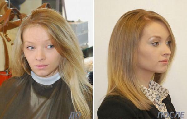 Фото до и после термострижки