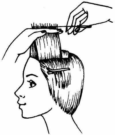 стрижка волос фронтальной зоны - универсальная короткая женская стрижка