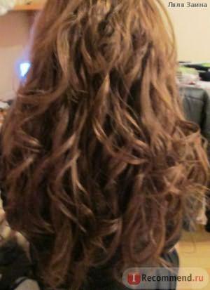после 8 часов носки кудрей. Поверьте,для этих волос это отличный результат!