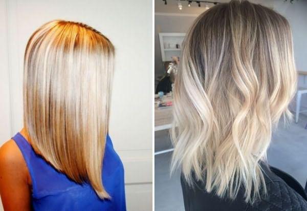 Стрижки на средние волосы 2017 32