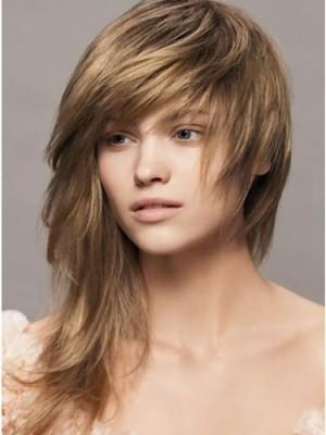 Ассиметричные стрижки на средние волосы фото