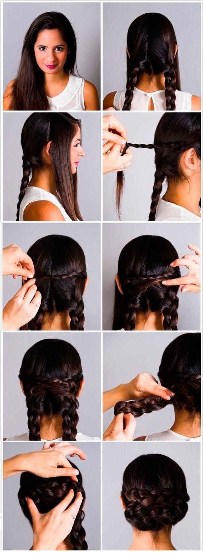 Простая прическа мастер-класс: косы