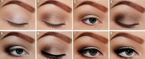 Как накрасить глаза и брови правильно