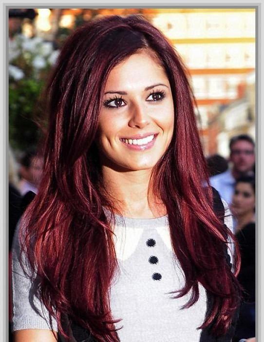 Темно вишневый цвет волос