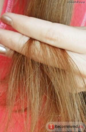 Кончики волос во время использования мягкого финского шампуня