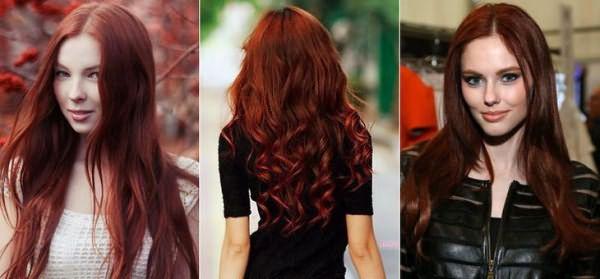 Красно медный цвет волос при окрашивании хной