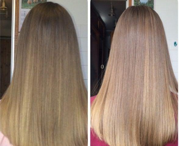Использование оттеночного шампуня: до и после