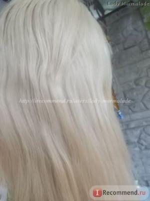 на следующий день после покраски Estel Essex Princess, оттенок 9.7 ванильный бежевый блонд