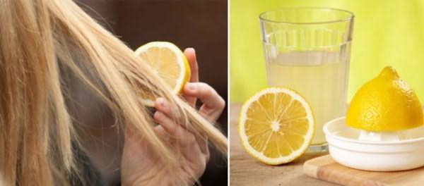 Лимонный сок для смывки рыжего оттенка